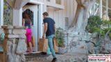 Lez Olan Kadınlar Komşu ile Sikişti
